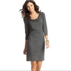 Loft polka dot cowl neck jersey dress